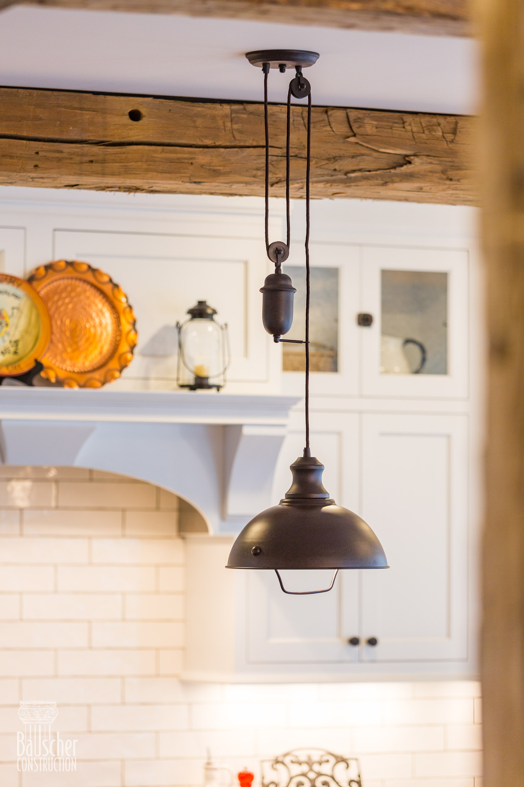 farmhouse kitchen remodel lighting